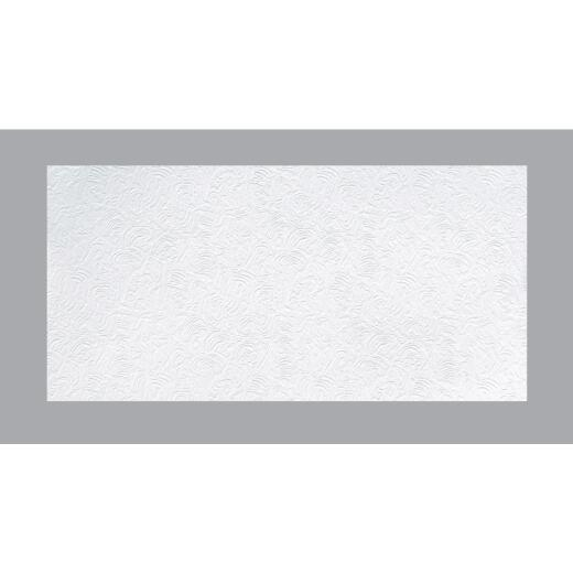BP LifeStyle Caravelle 2 Ft. x 4 Ft. White Wood Fiber Suspended Ceiling Tile (8-Count)