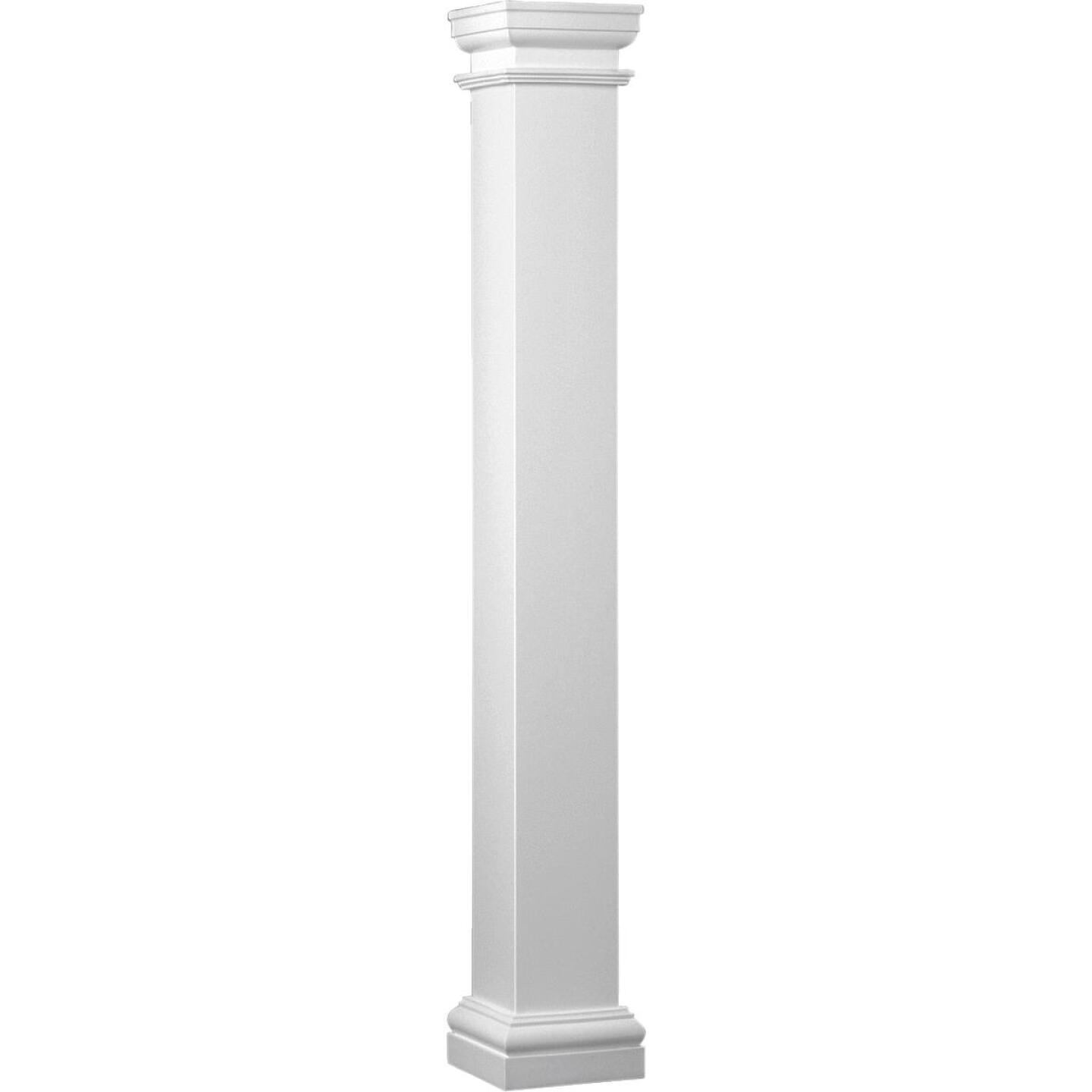 Crown Column Duralite 6 In. x 8 Ft. Smooth White Fiberglass Column Image 1