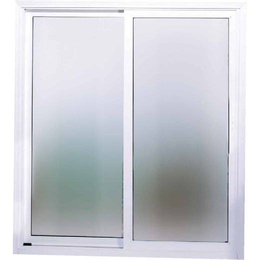 Interstate Model 4202 6/0-6/8 Reversible White Sliding Patio Door with South Glass Pack