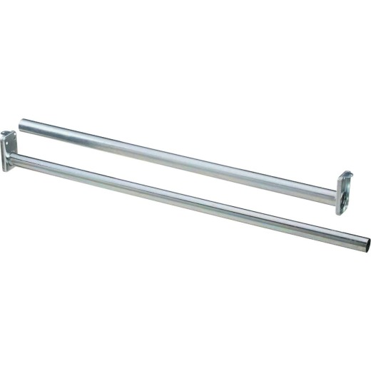 Stanley National 30 In. To 48 In. Adjustable Closet Rod, Bright Steel