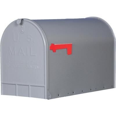 Gibraltar Stanley T3 Gray Steel Rural Post Mount Mailbox