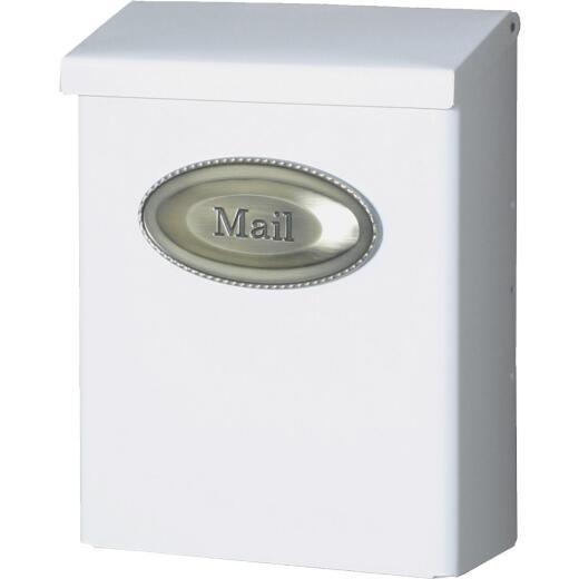 Gibraltar White Designer Vertical Wall Mount Mailbox