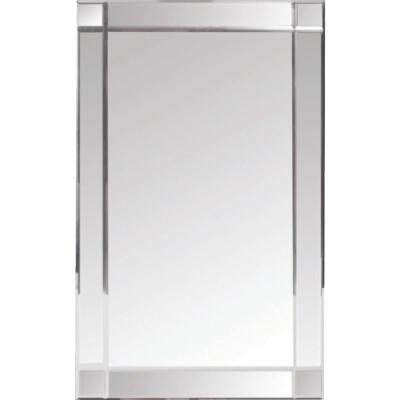 Zenith Frameless Beveled 16 In. W x 26-3/8 In. H x 4-1/2 In. D Single Mirror Surface Mount V-Groove Mirror Medicine Cabinet