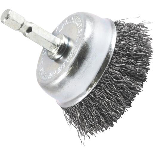 Forney 2 In. Hex .012 In. Drill-Mounted Wire Brush