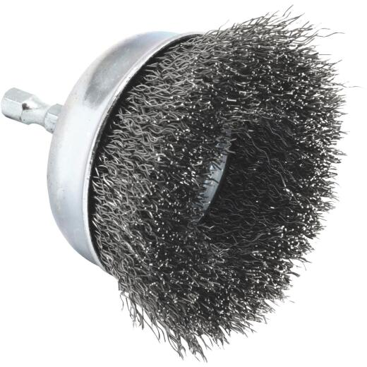 Forney 3 In. Hex .012 In. Drill-Mounted Wire Brush