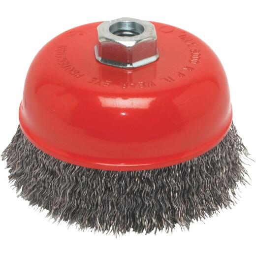 Forney 5 In. Crimped .014 In. Angle Grinder Wire Brush