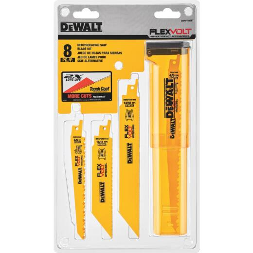 DeWalt Flexvolt 8-Piece Reciprocating Saw Blade Set