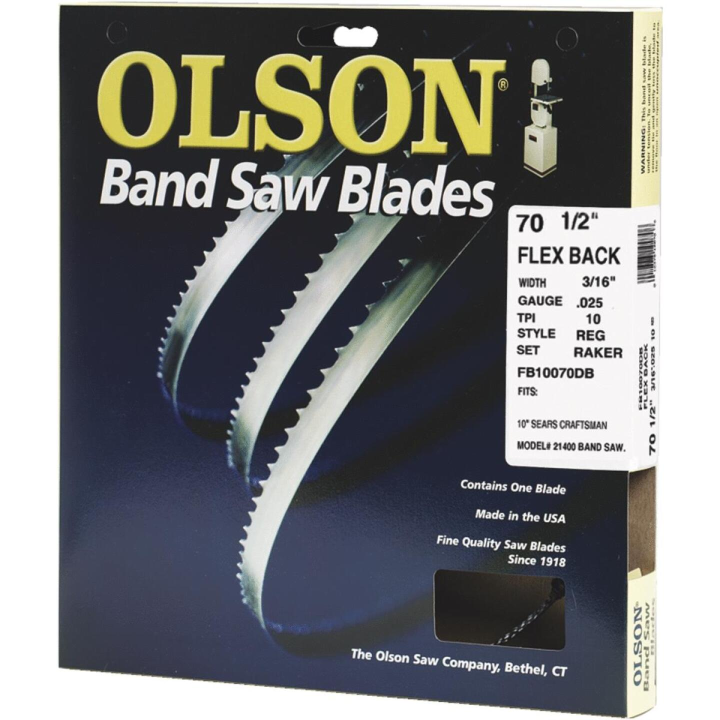 Olson 70-1/2 In. x 3/16 In. 10 TPI Regular Flex Back Band Saw Blade Image 1
