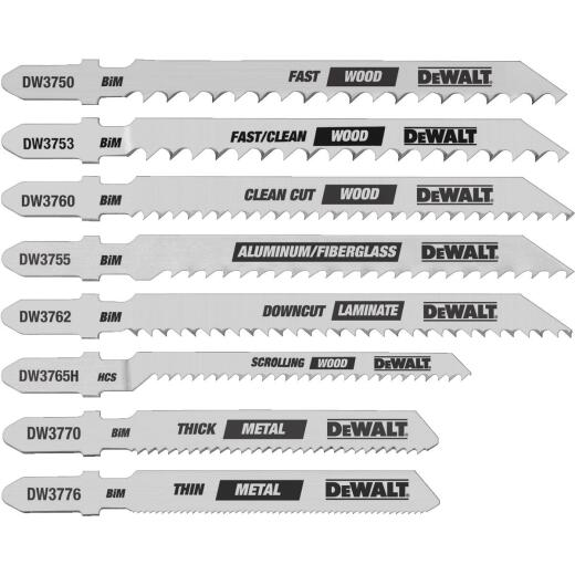 DeWalt 8-Piece T-Shank Jig Saw Blade Set