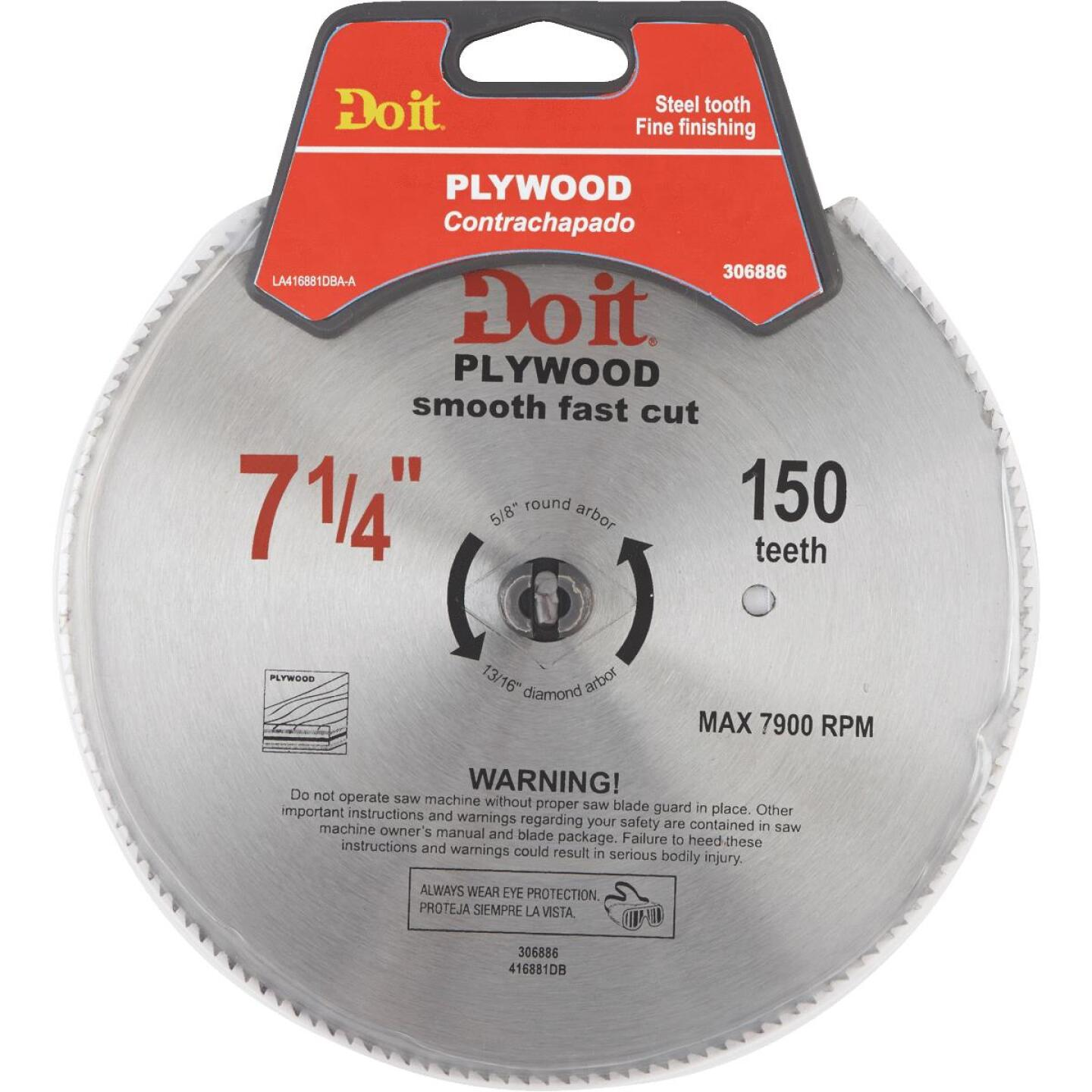 Do it 7-1/4 In. 150-Tooth Plywood Circular Saw Blade Image 1