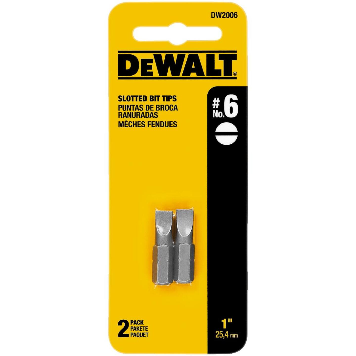DeWalt Slotted #6 1 In. Insert Screwdriver Bit Image 1