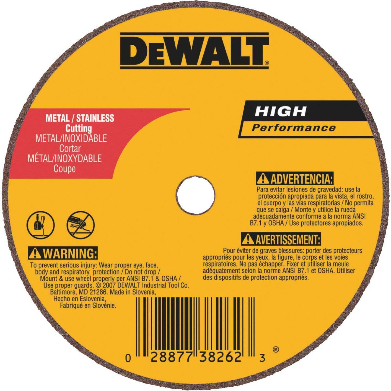 DeWalt HP Type 1, 3 In. Cut-Off Wheel Image 1