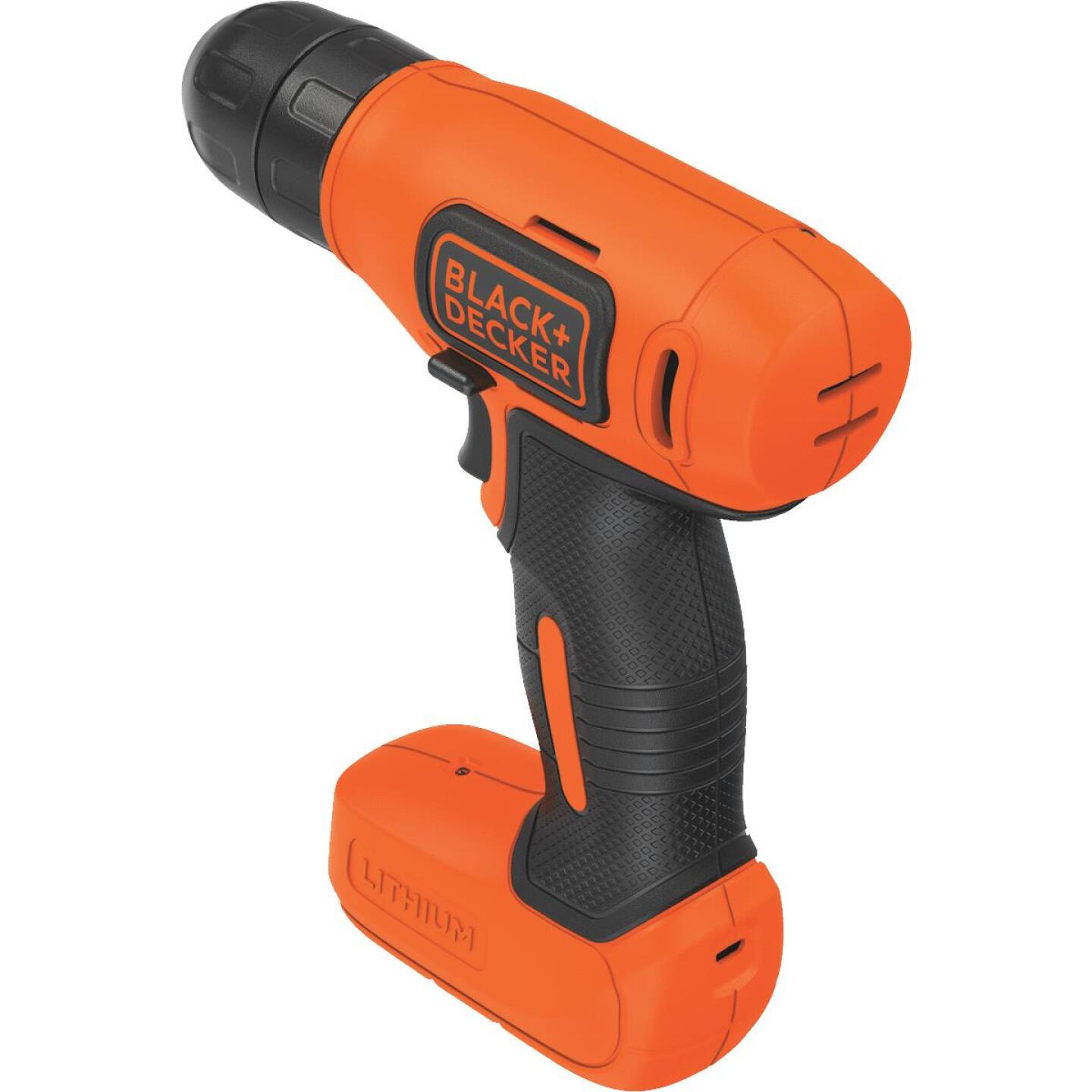 Black & Decker 8 Volt Lithium-Ion 3/8 In. Cordless Drill Kit Image 4