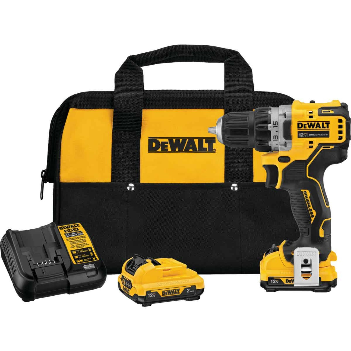 DeWalt XTREME 12 Volt MAX XR Lithium-Ion 3/8 In. Brushless Cordless Drill/Driver Kit Image 1