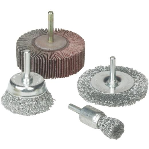 Weiler Vortec 4 pcs Abrasive Wheel & Brush Set