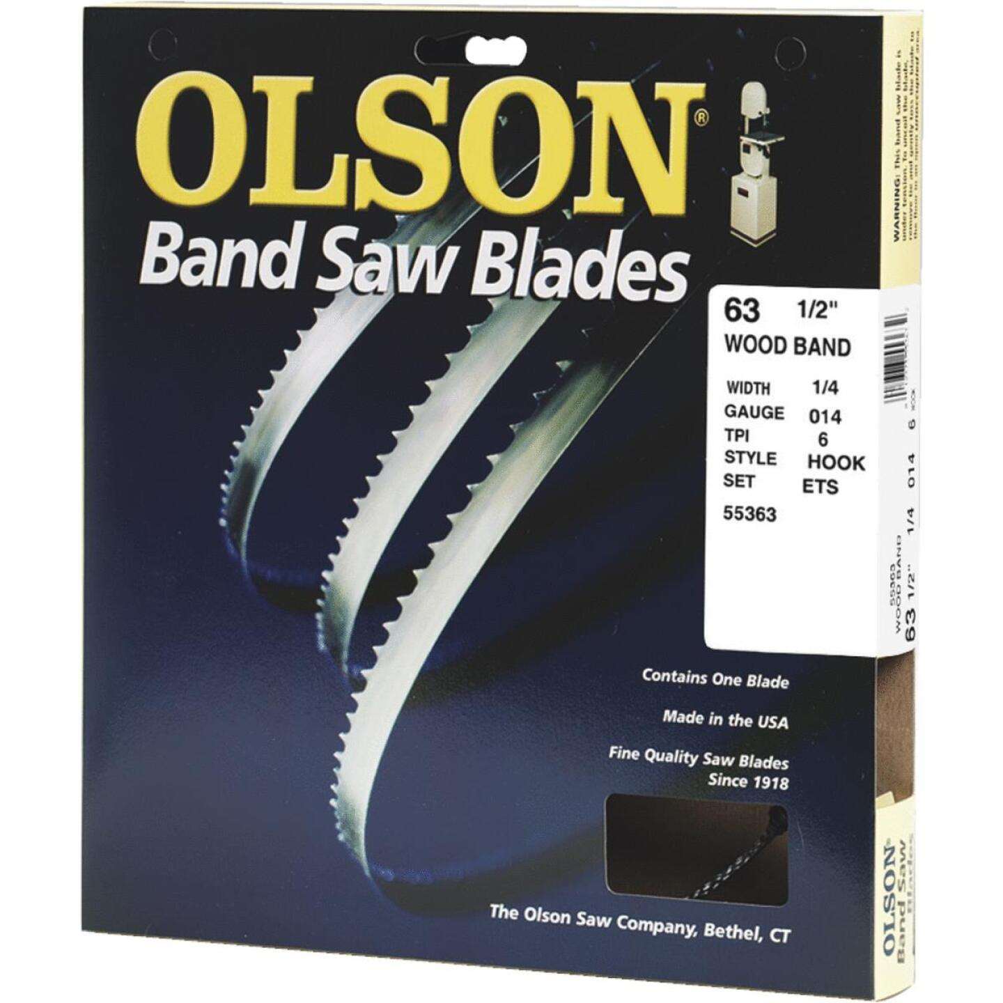 Olson 63-1/2 In. x 1/4 In. 6 TPI Hook Wood Cutting Band Saw Blade Image 1