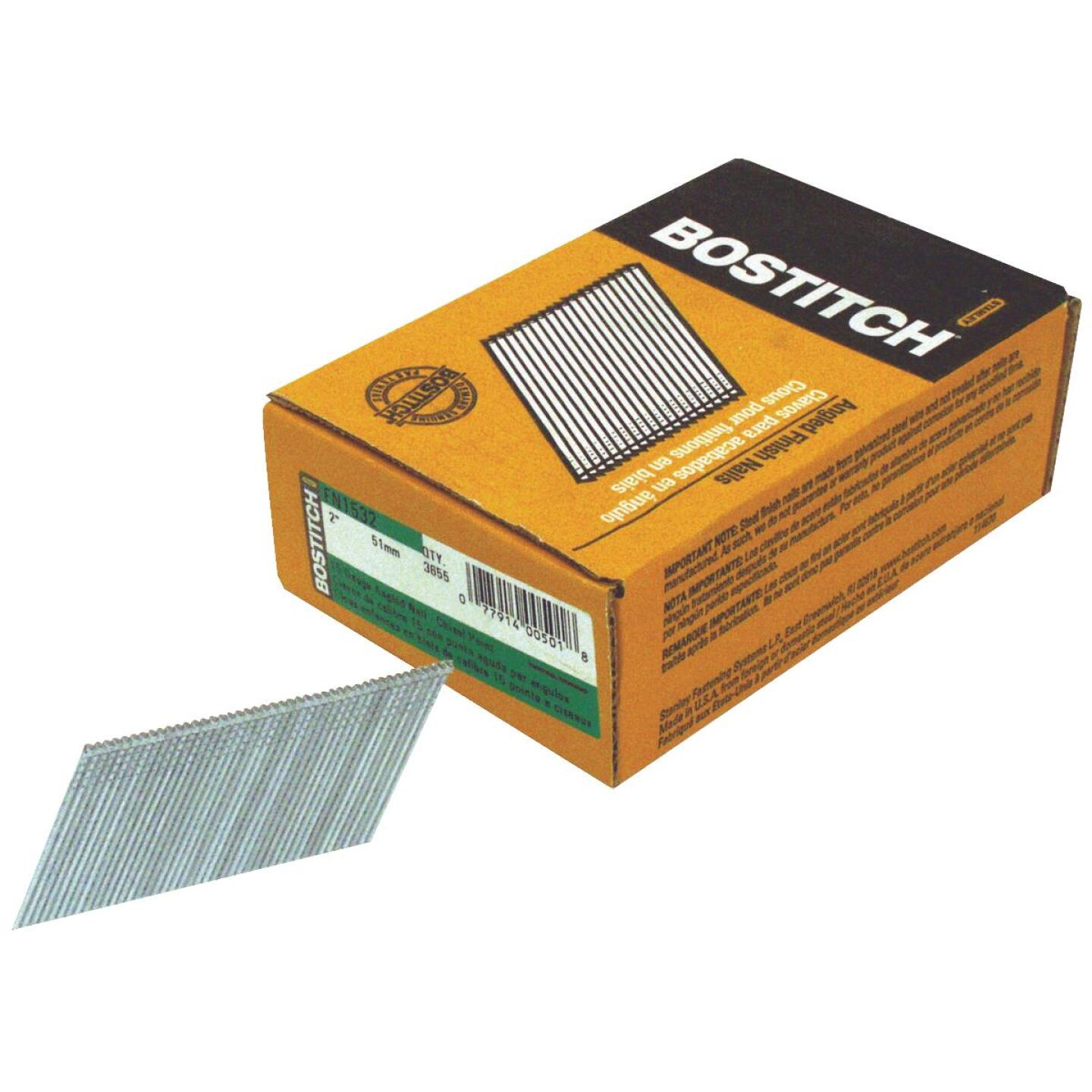 Bostitch 15-Gauge Coated 25 Degree FN-Style Angled Finish Nail, 2 In. (3655 Ct.) Image 1