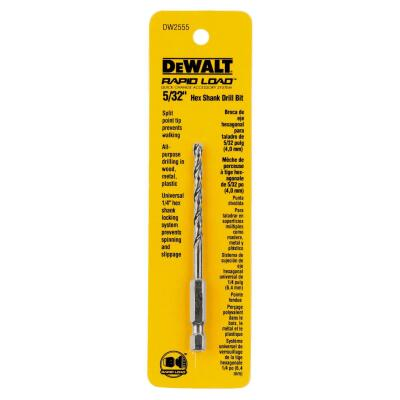 DeWalt Rapid Load 5/32 In. Black Oxide Hex Shank Drill Bit
