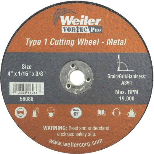 Weiler Vortec 4 In. Type 1 Cut-Off Wheel