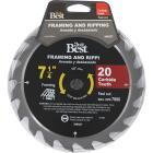 Do it Best 7-1/4 In. 20-Tooth Framing & Ripping Circular Saw Blade Image 2
