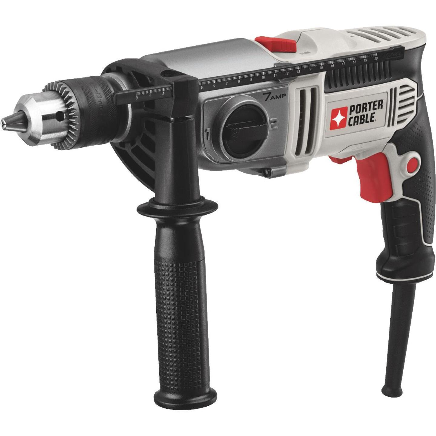 Porter Cable 1/2 In. Keyed 7.0-Amp VSR 2-Speed Electric Hammer Drill Image 1