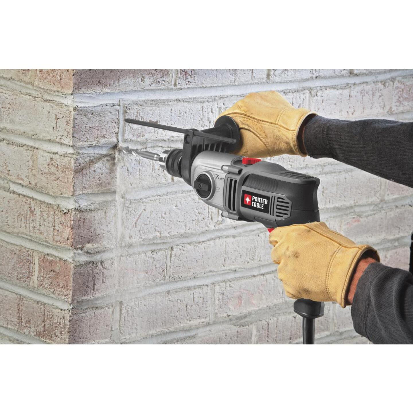 Porter Cable 1/2 In. Keyed 7.0-Amp VSR 2-Speed Electric Hammer Drill Image 4