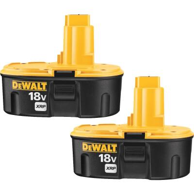 DeWalt 18 Volt XRP Nickel-Cadmium 2.4 Ah Tool Battery (2-Pack)