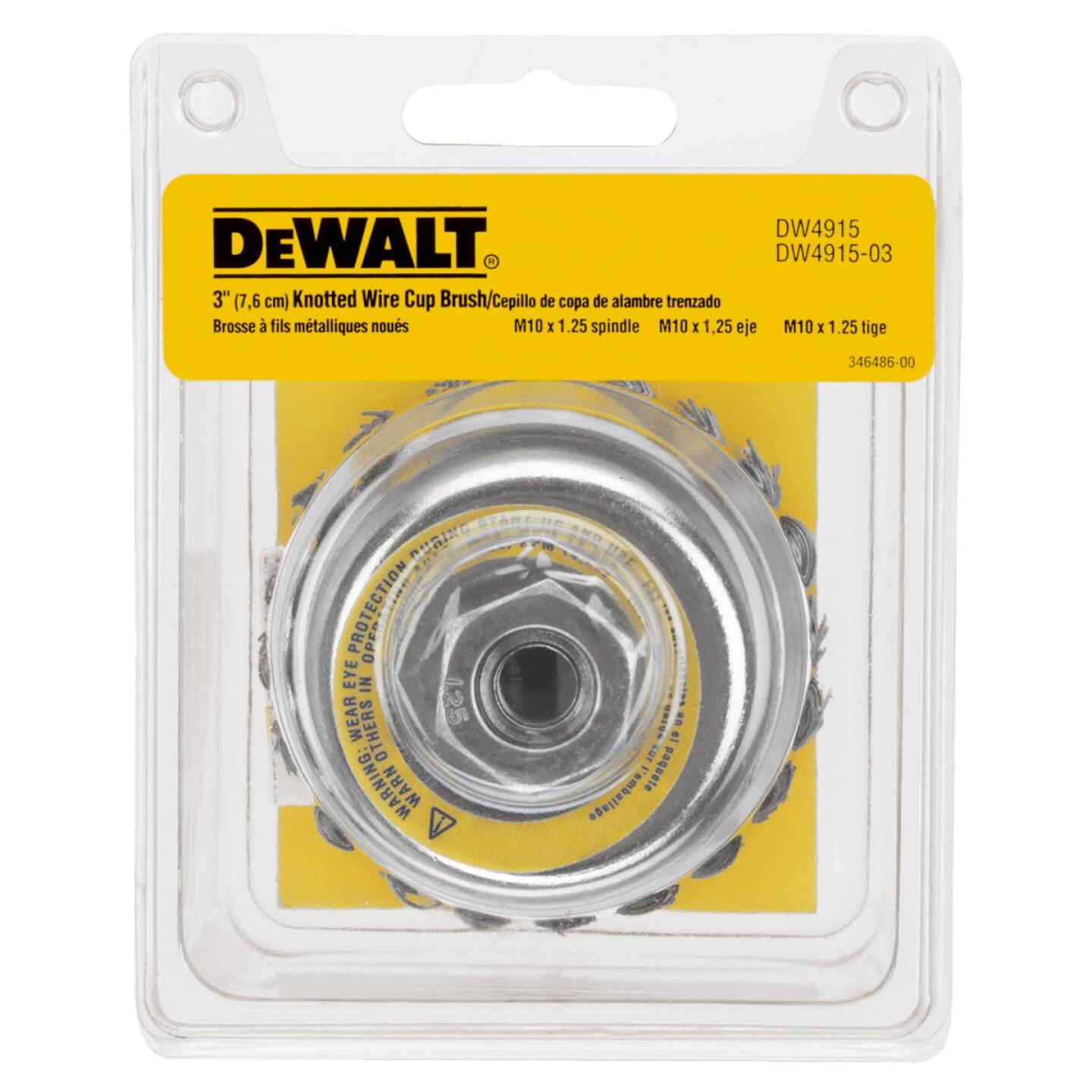 DeWalt 3 In. Knotted 0.020 In. Angle Grinder Wire Brush Image 2