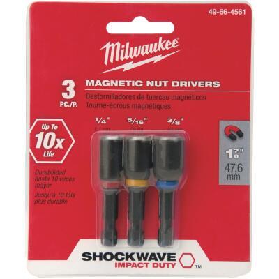 Milwaukee Shockwave 3-Piece Impact Magnetic Nutdriver Bit Set