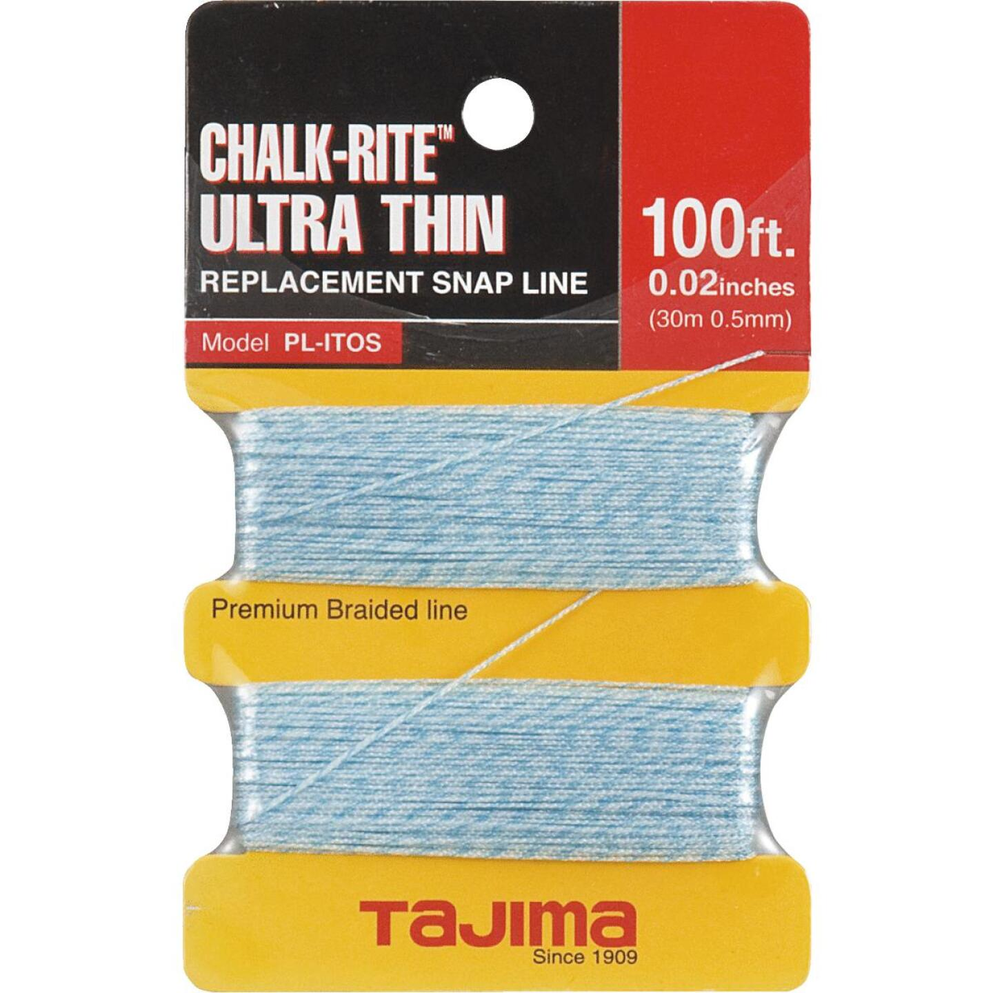Tajima Chalk-Rite 100 Ft. Braided Nylon Ultra Thin Chalk Line Image 1