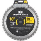 Do it Best Professional 10 In. 40-Tooth Crosscut/Ripping Circular Saw Blade Image 1