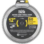 Do it Best Professional 12 In. 60-Tooth Fine Crosscut/Plywood Circular Saw Blade Image 1