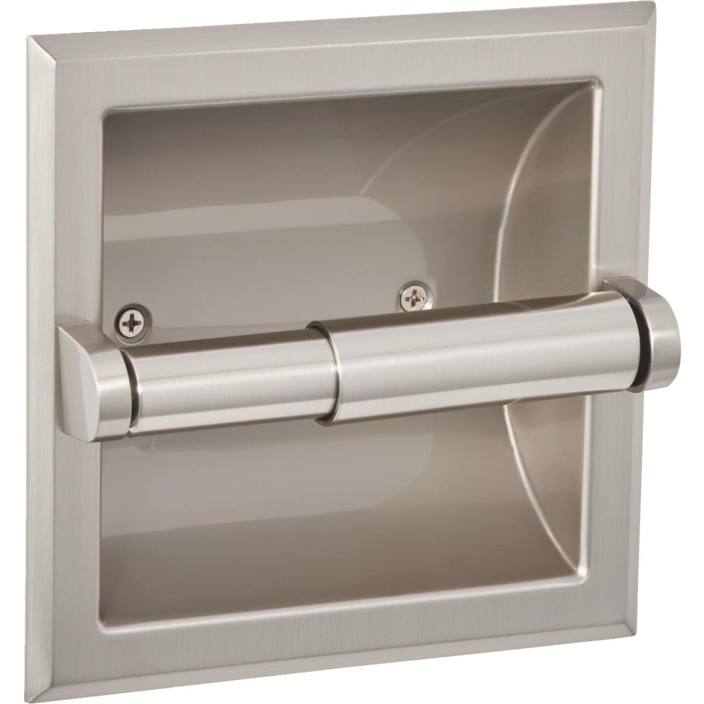 Home Impressions Aria Brushed Nickel Recessed Toilet Paper Holder Image 1