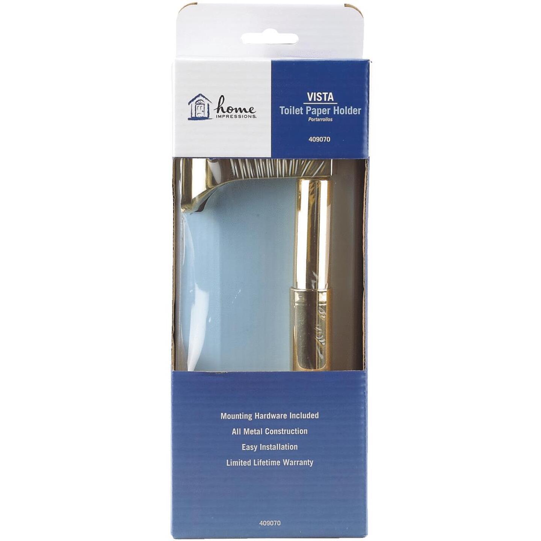 Home Impressions Vista Polished Brass Wall Mount Toilet Paper Holder Image 3