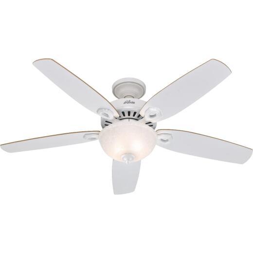 Hunter Builder Deluxe 52 In. White Ceiling Fan with Light Kit