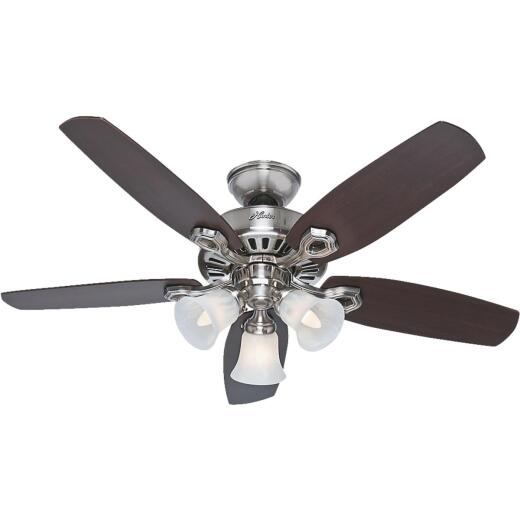 Hunter Builder Small Room 42 In. Brushed Nickel Ceiling Fan with Light Kit