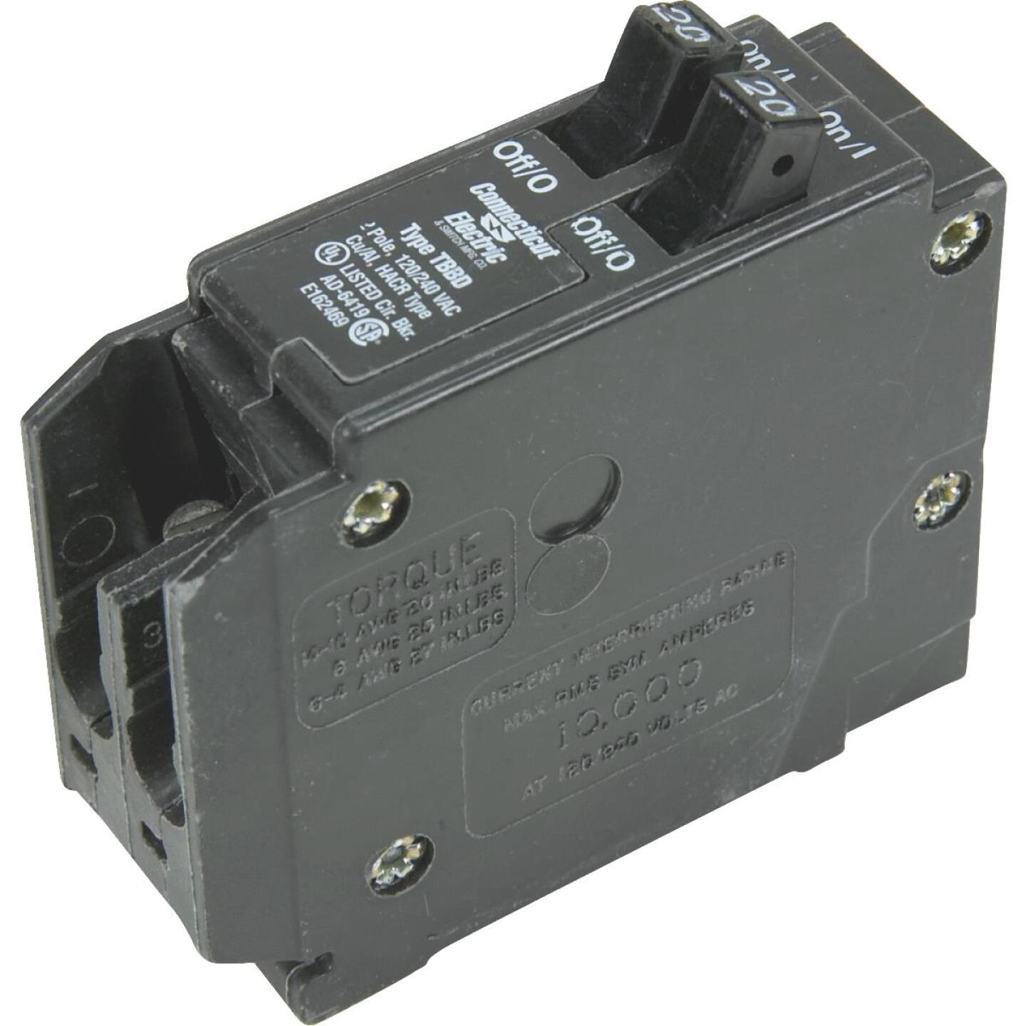 Connecticut Electric 20A/20A Twin Single-Pole Standard Trip Interchangeable Packaged Circuit Breaker Image 1