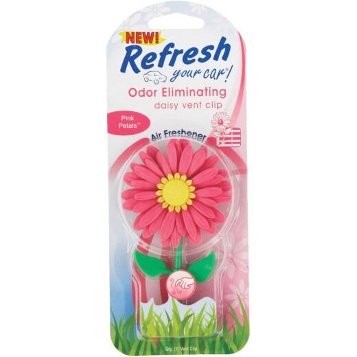 Refresh Your Car Daisy Car Air Freshener, Pink Petals