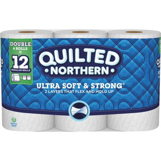 Quilted Northern Ultra Soft & Strong Toilet Paper (6 Double Rolls)
