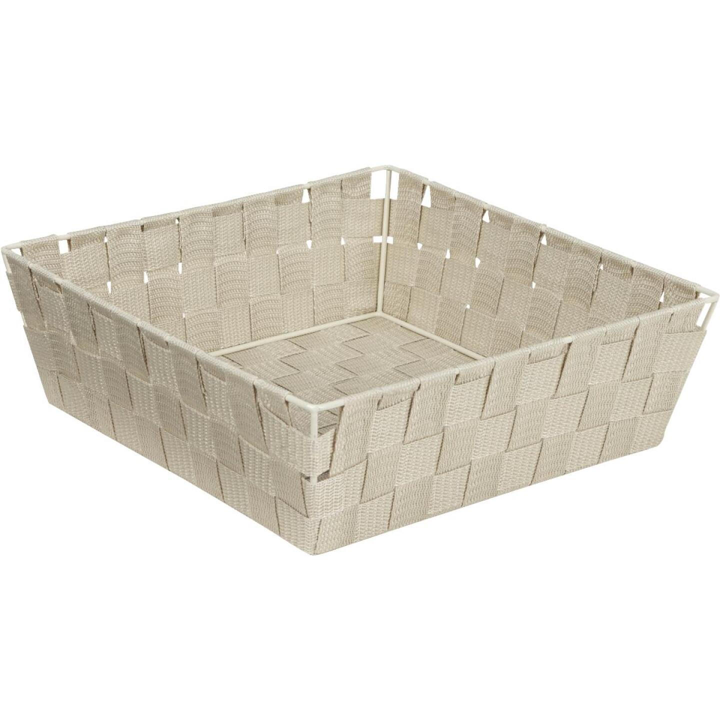 Home Impressions 11.75 In. x 3.75 In. H. Woven Storage Basket, Beige Image 1