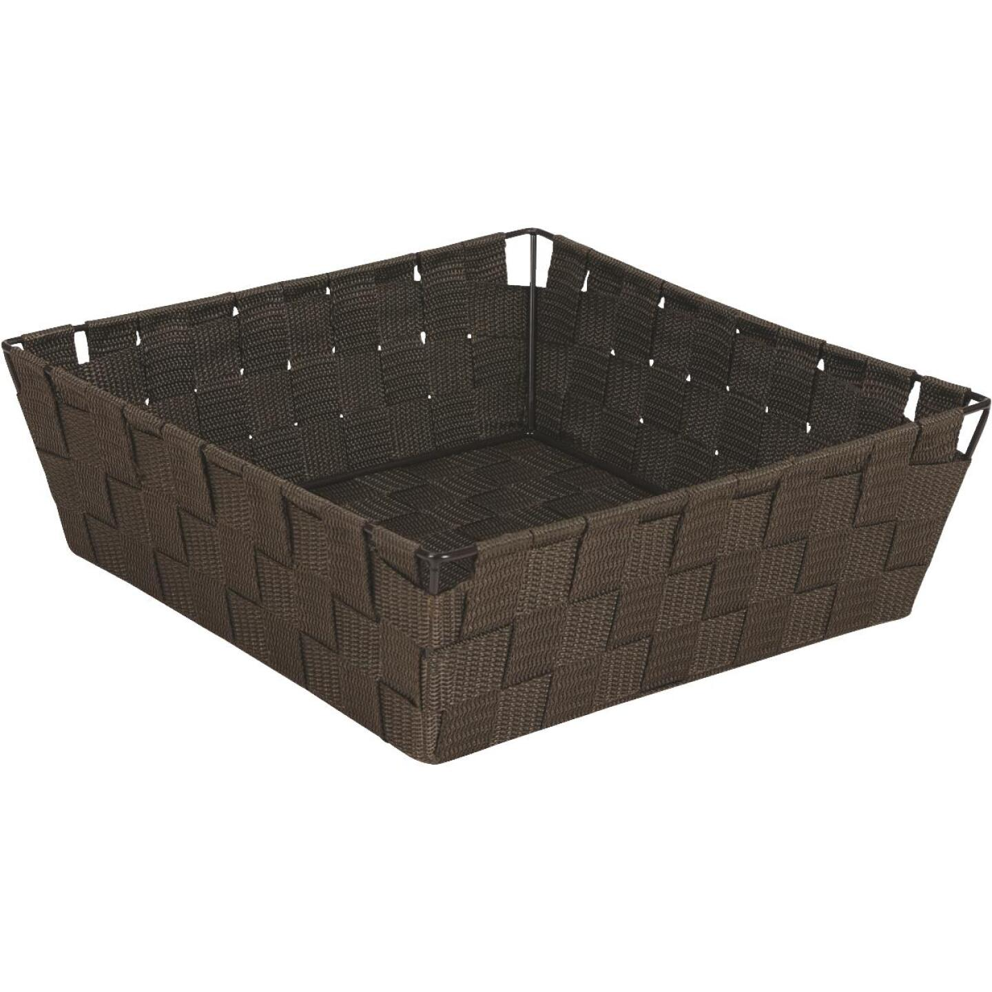 Home Impressions 11.75 In. x 3.75 In. H. Woven Storage Basket, Brown Image 1