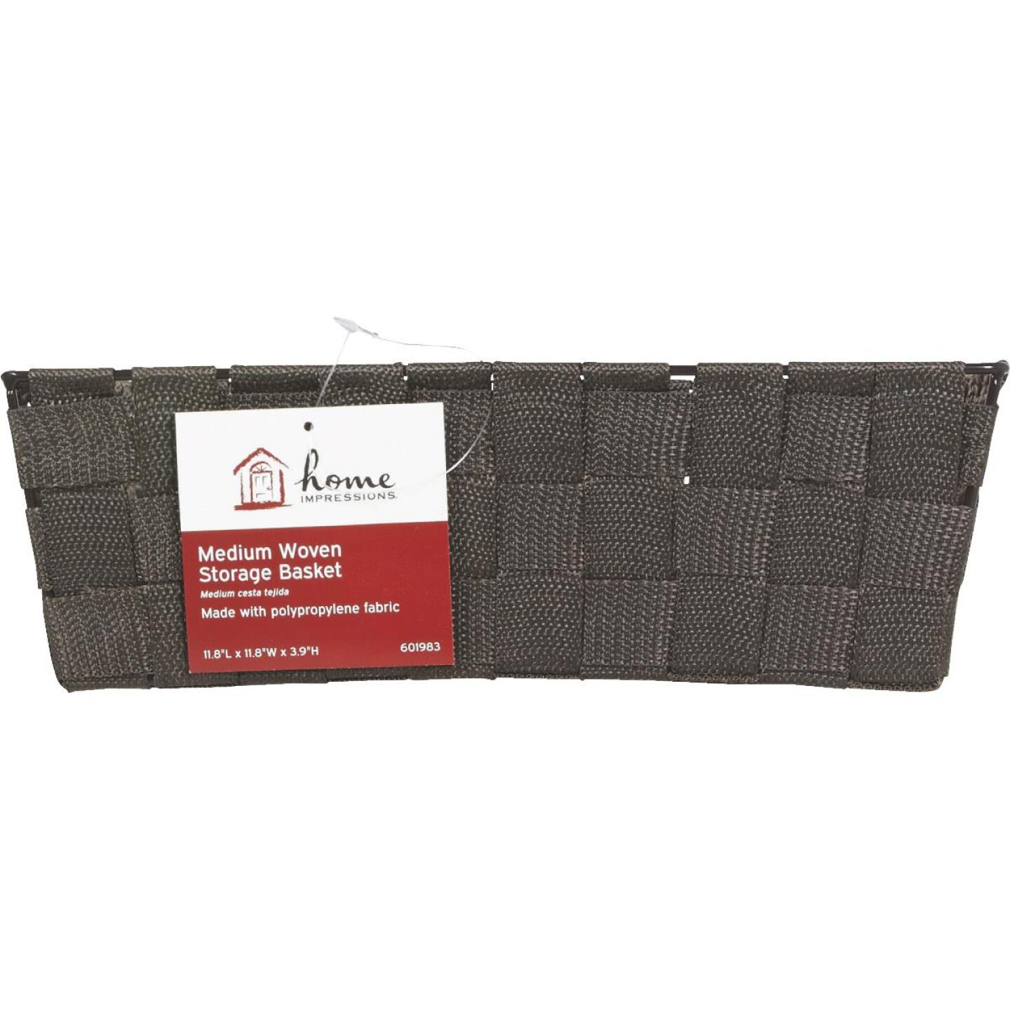 Home Impressions 11.75 In. x 3.75 In. H. Woven Storage Basket, Brown Image 2