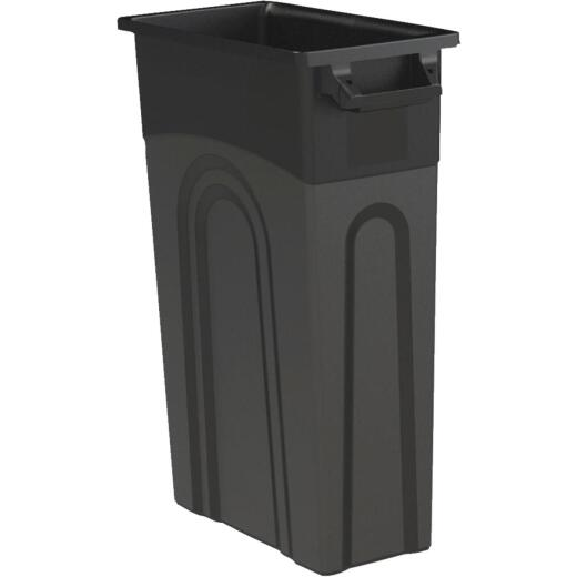 United Solutions 23 Gal. Black Trash Can