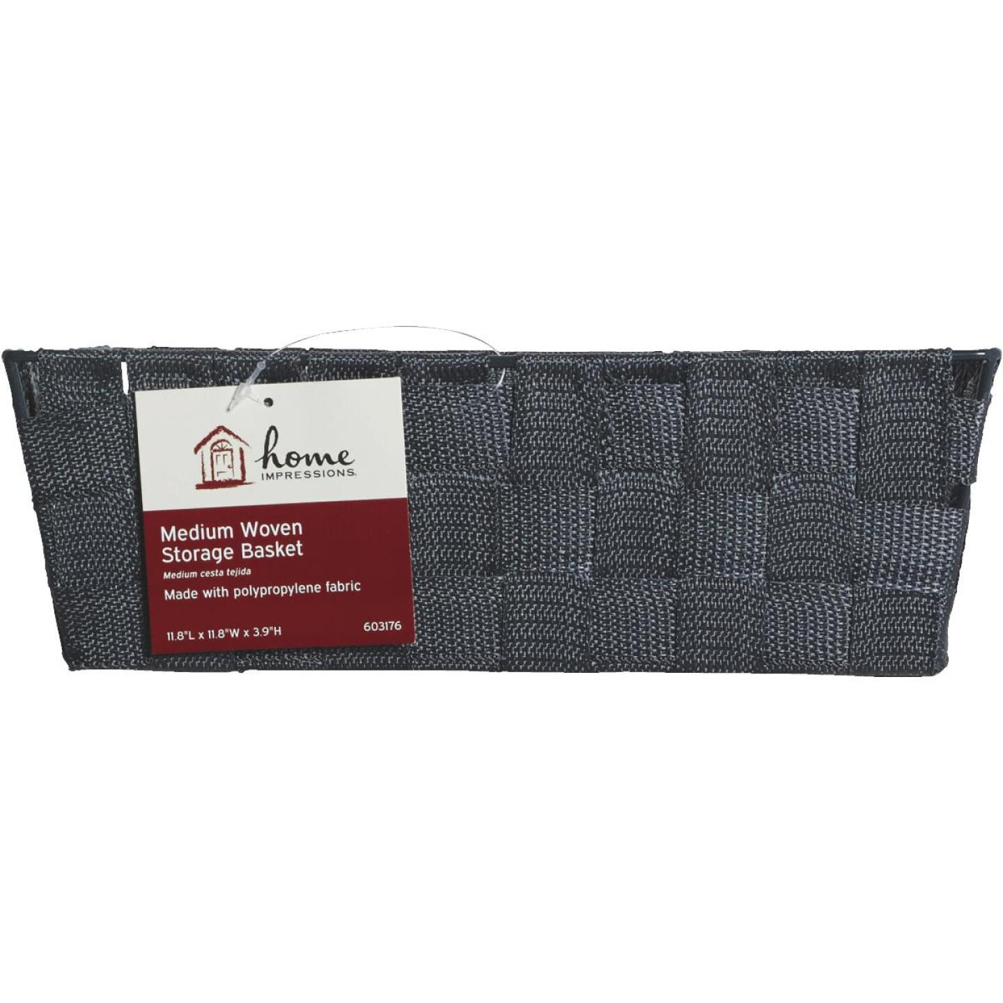 Home Impressions 11.75 In. x 3.75 In. H. Woven Storage Basket, Gray Image 2