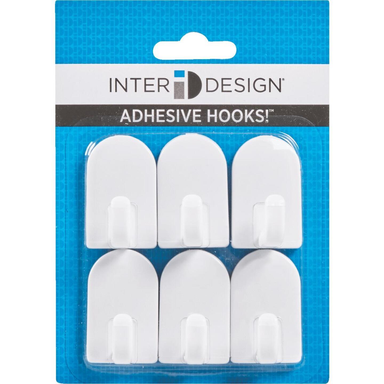 InterDesign Soap Savers Mini White Plastic Adhesive Hook (2-Pack) Image 2