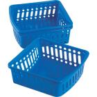 Smart Savers 5 In. W. x 2-1/3 In. H. x 6-1/2 In. L. Plastic Storage Basket (3-Pack) Image 2