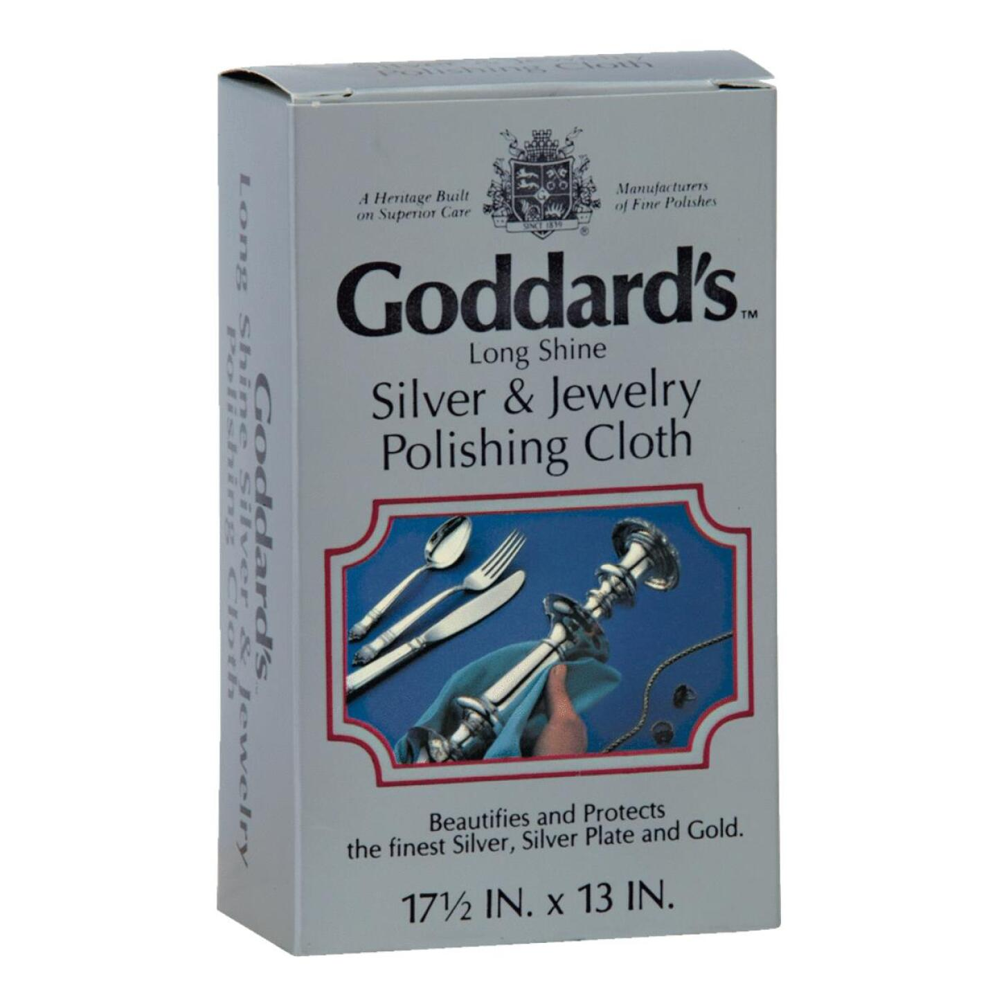 Goddard's Long Shine Silver & Jewelry Polishing Cloth Image 1