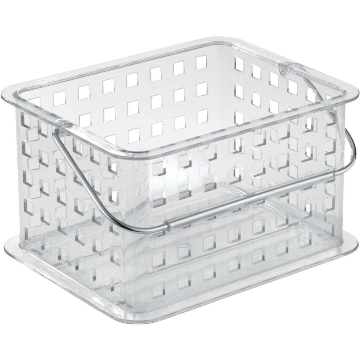 iDesign Clarity 8.8 In. L.x 6.9 In. H. x 5.3 In. D. Plastic Stackable Storage Basket Image 1