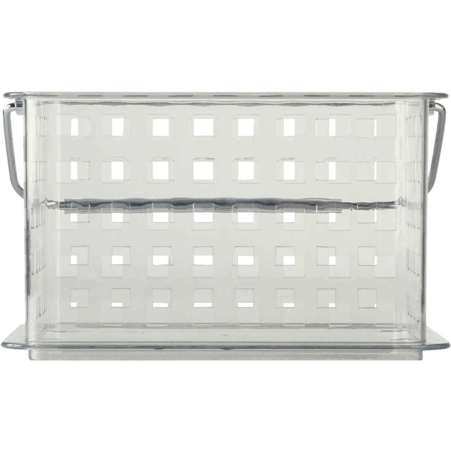iDesign Clarity 8.8 In. L.x 6.9 In. H. x 5.3 In. D. Plastic Stackable Storage Basket Image 3