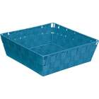 Home Impressions 11.75 In. x 3.75 In. H. Woven Storage Basket, Blue Image 1